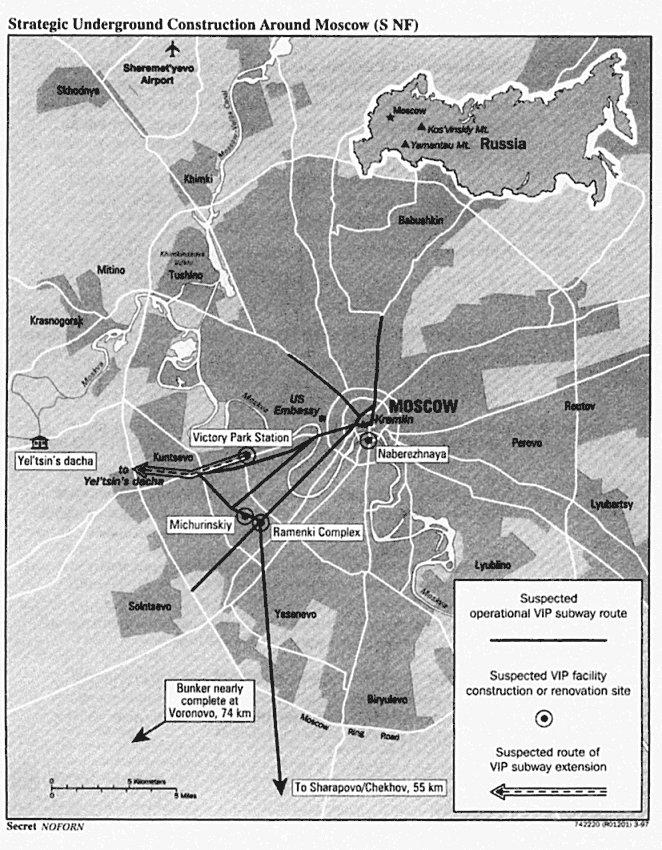 Схема секретной линии метро,